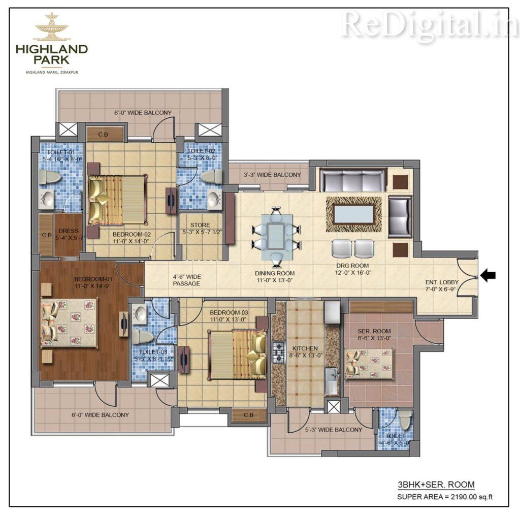 Highland Park 2/3/4 BHK Residential Apartments